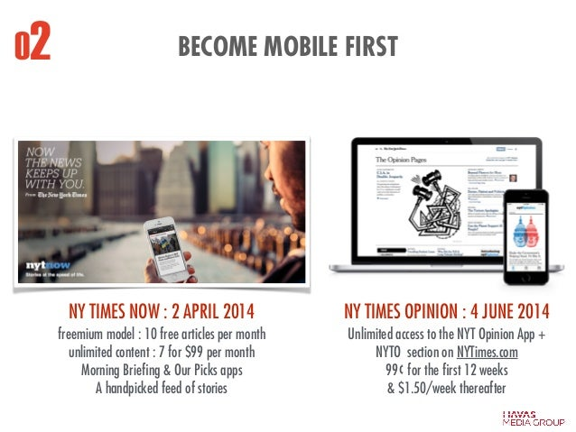 freemium model : 10 free articles per month unlimited content : 7 for $99 per month Morning Briefing & Our Picks apps A han...