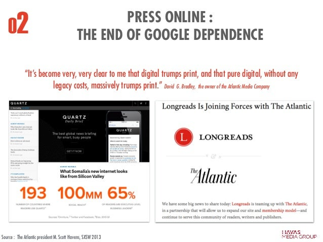 """02 PRESS ONLINE : THE END OF GOOGLE DEPENDENCE """"It's become very, very clear to me that digital trumps print, and that pu..."""