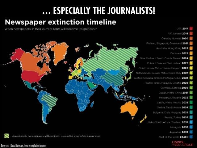 … ESPECIALLY THE JOURNALISTS! Source : Ross Dawson, futureexploitation.net