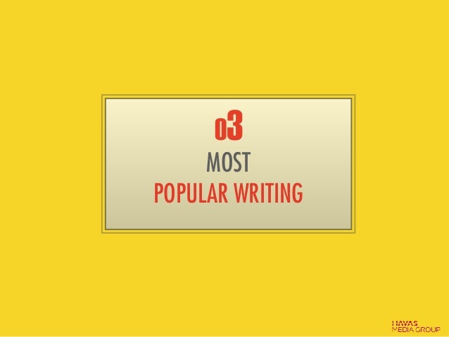 03 MOST POPULAR WRITING