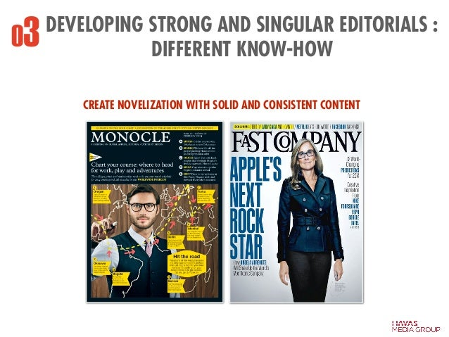DEVELOPING STRONG AND SINGULAR EDITORIALS : DIFFERENT KNOW-HOW03 CREATE NOVELIZATION WITH SOLID AND CONSISTENT CONTENT