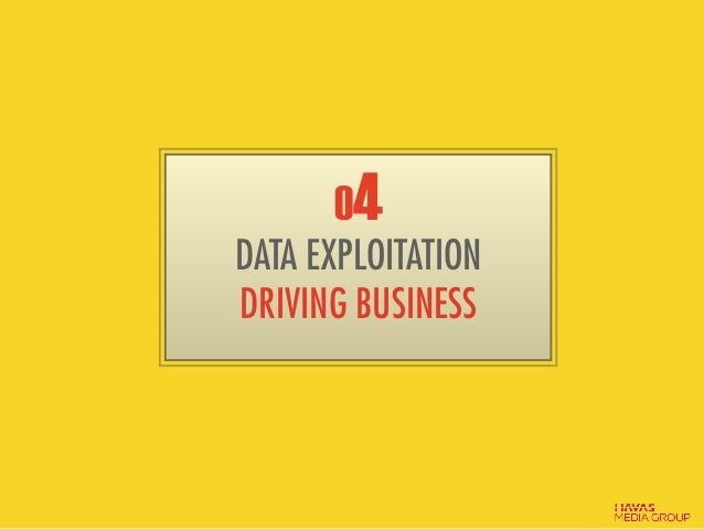 04 DATA EXPLOITATION DRIVING BUSINESS