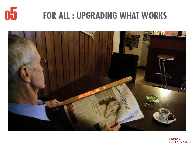 05 FOR ALL : UPGRADING WHAT WORKS