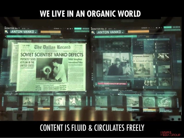 CONTENT IS FLUID & CIRCULATES FREELY WE LIVE IN AN ORGANIC WORLD