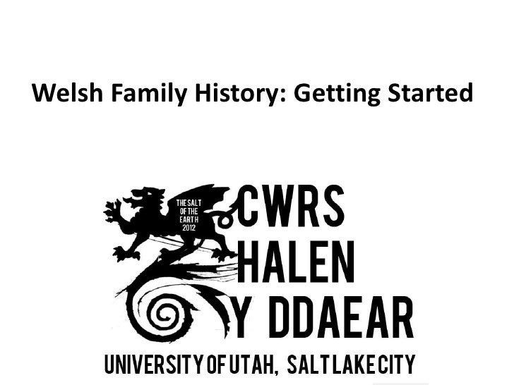 Welsh Family History: Getting Started