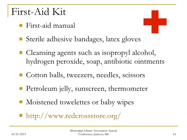 printable first aid kit manual