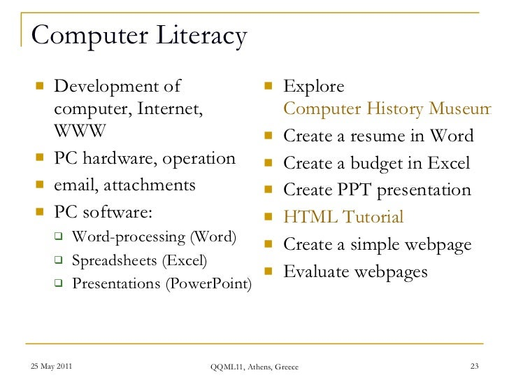 computer literacy on resume job resume communication skills http