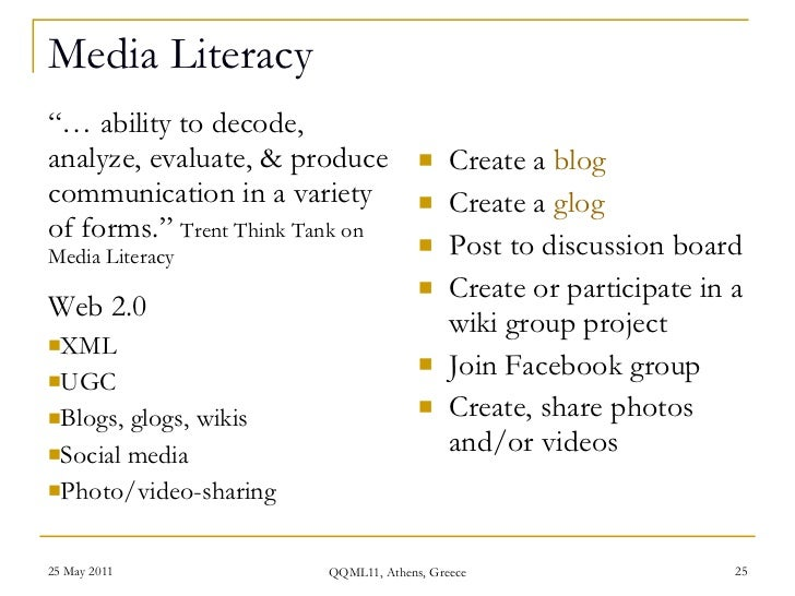 Media literacy research paper topics