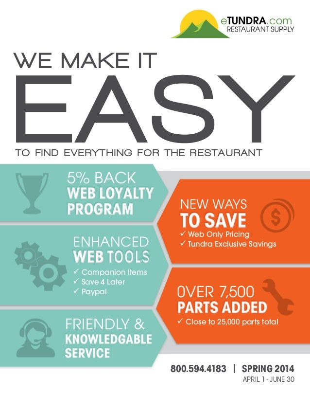TO FIND EVERYTHING FOR THE RESTAURANT EASY WE MAKE IT 5% BACK FRIENDLY & ENHANCED Companion Items Save 4 Later Paypal NEW ...