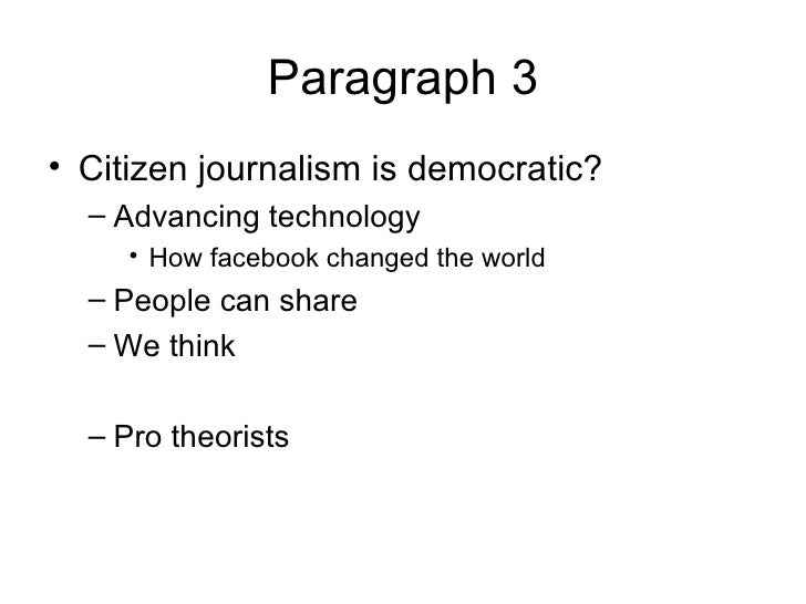 citizen journalism essay