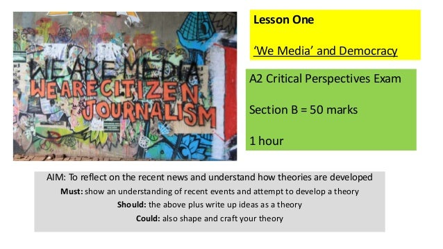 AIM: To reflect on the recent news and understand how theories are developed Must: show an understanding of recent events ...