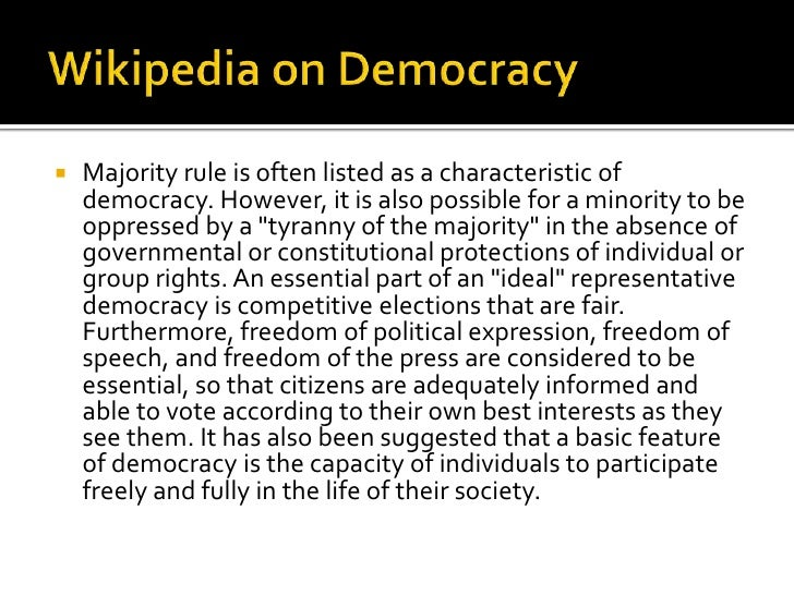 essay on democracy Free essay: democracy is a unique type of government, and the purpose of this essay is to illustrate the strengths and weaknesses that a democratic.