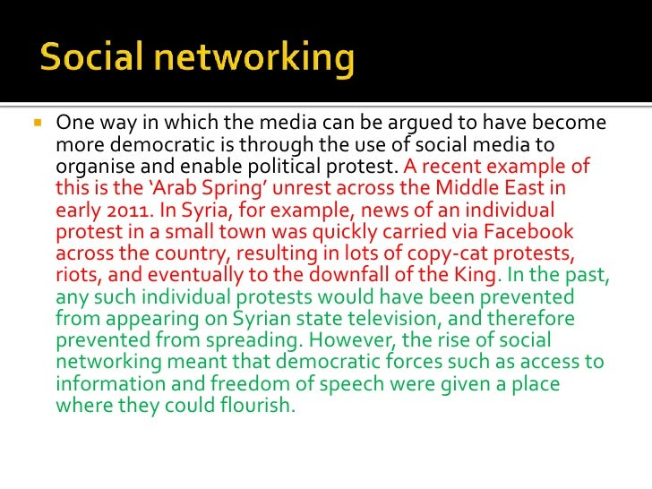 Essay on social networking