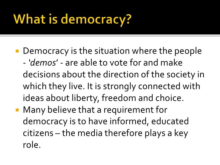 we media sample essay what is democracy
