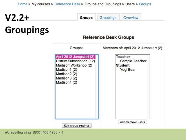 V2.2+ GroupingseClass4learning (800) 408.4935 x 1