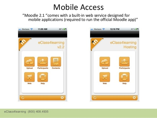 Mobile Access via Apps          Display at 2.2 sites   Display at 2.1 siteseClass4learning (800) 408.4935