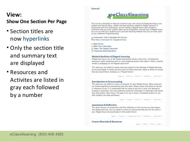 View:Show One Section Per Page• Section titles are  now hyperlinks• Only the section title  and summary text  are displaye...