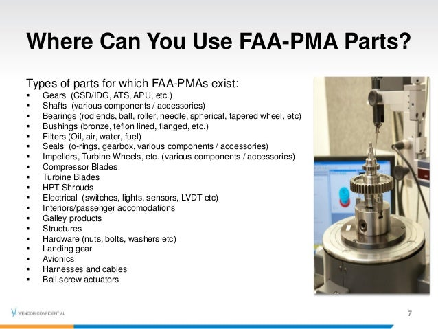 Non Oem Pma Components And Der Repairs Best Practices