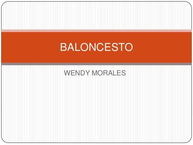 WENDY MORALES BALONCESTO