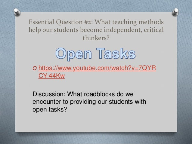 essential question narrative essay