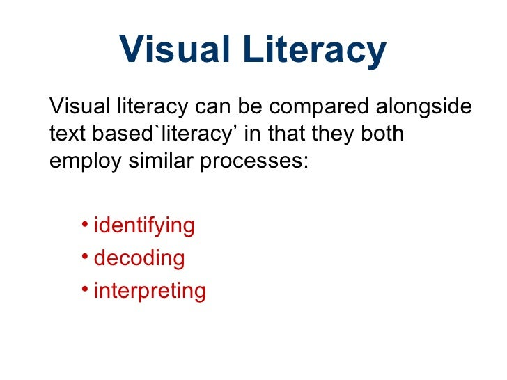 Visual literacy