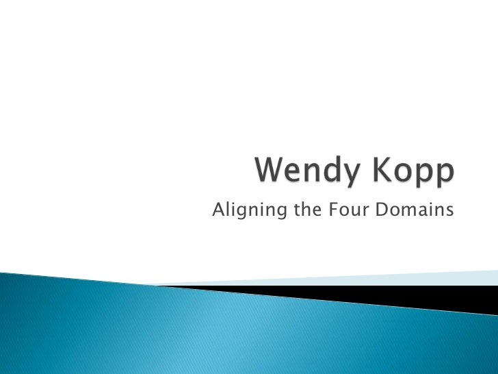 Aligning the Four Domains