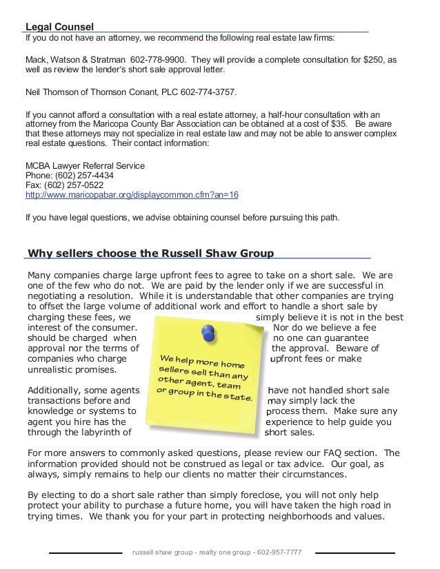 Wendy shaw short sale package for Short sale websites for realtors
