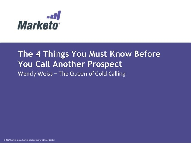The 4 Things You Must Know Before You Call Another Prospect