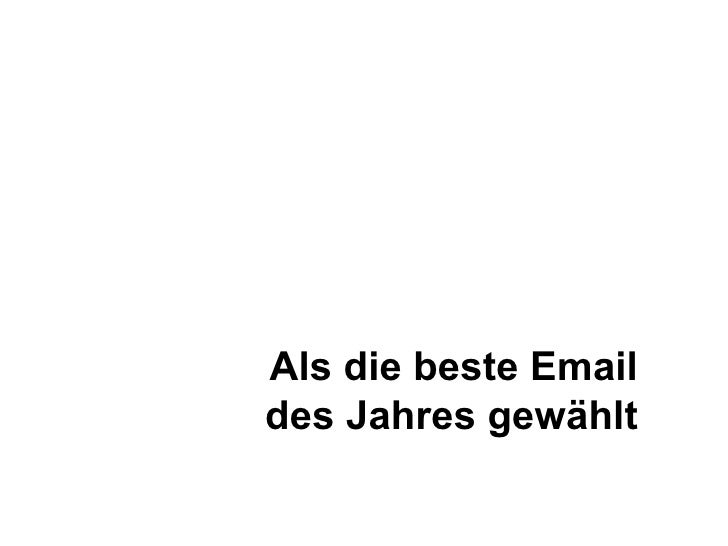 Als die beste Email des Jahres gewählt