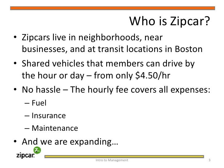 zipcar case study analysis How to build a brilliant new venture in this excerpt, we'll cover the first step using zipcar as a case study find and fill an important unmet customer need.