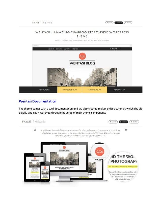 Wentasi   amazing tumblog responsive theme Slide 2
