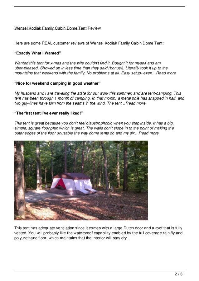 ... 2. Wenzel Kodiak Family Cabin Dome Tent ReviewHere ...  sc 1 st  SlideShare & wenzel-kodiak-family-cabin-dome-tent-review-2-638.jpg?cbu003d1358049386
