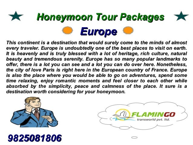 We offer best honeymoon tour packages to the visitors Slide 2