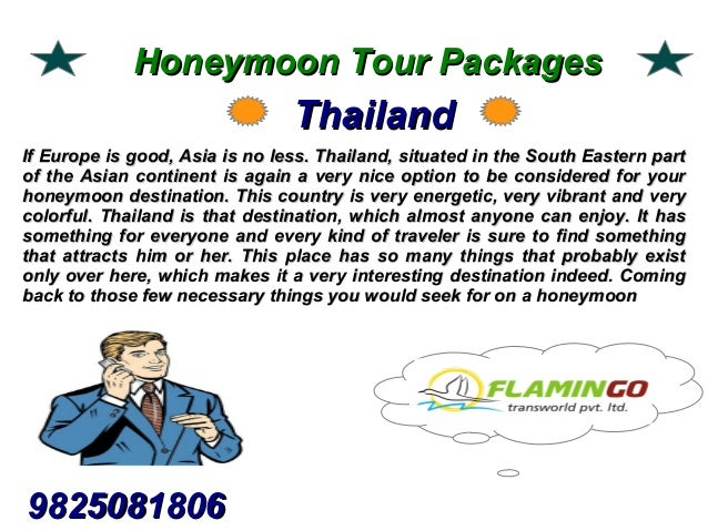 We offer best honeymoon tour packages to the visitors Slide 3