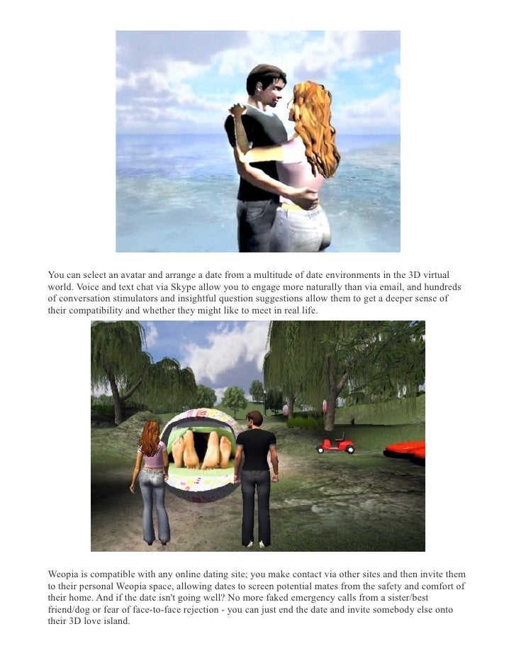 Weopia virtual world the future of online dating