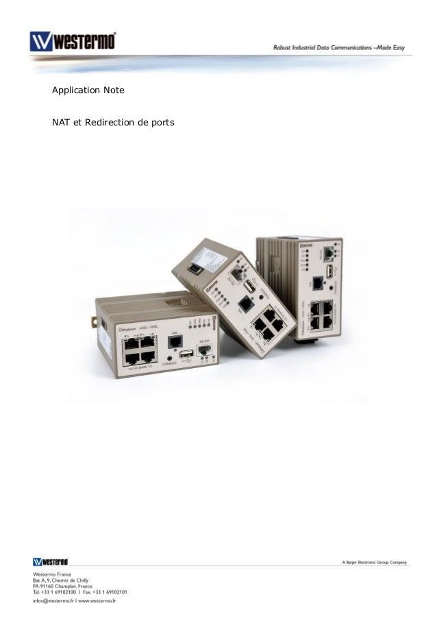 Application Note NAT et Redirection de ports