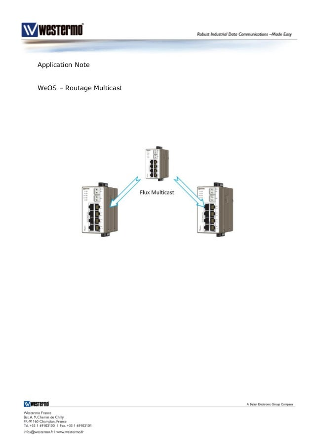 Application Note WeOS – Routage Multicast