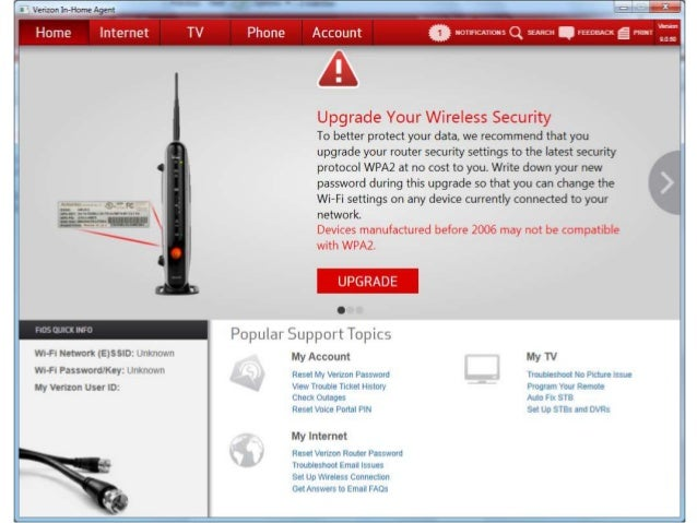 router's Manage Wi-Fi Security
