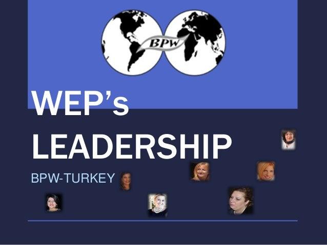 WEP'sLEADERSHIPBPW-TURKEY