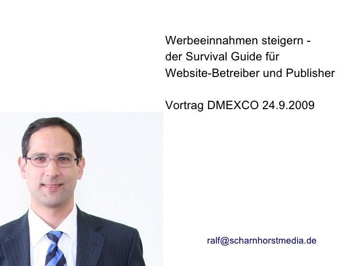 Werbeeinnahmen steigern -                               der Survival Guide für                               Website-Betre...