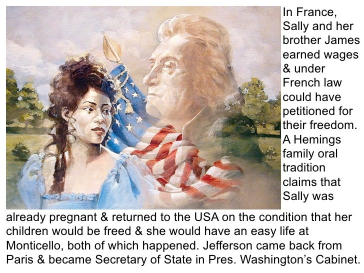thomas jefferson sally hemings Historians have made a discovery just in time for the july 4th holiday the room at monticello, which was 14 feet, 8 inches by 13 feet, was found next to jefferson's bedroom it had been.