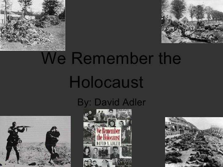 We Remember the Holocaust  By: David Adler