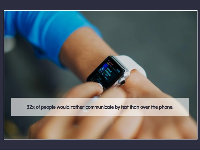 32% of people would rather communicate by text than over the phone.