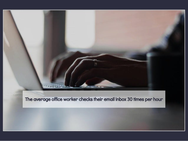 The average office worker checks their email inbox 30 times per hour