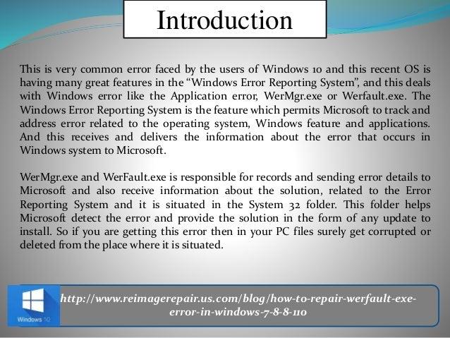 werfault exe error