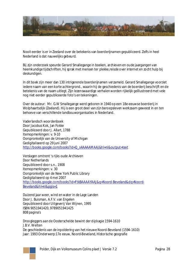 Werkboek Polder Dijk En Volksmuseum Colins Plaet V72