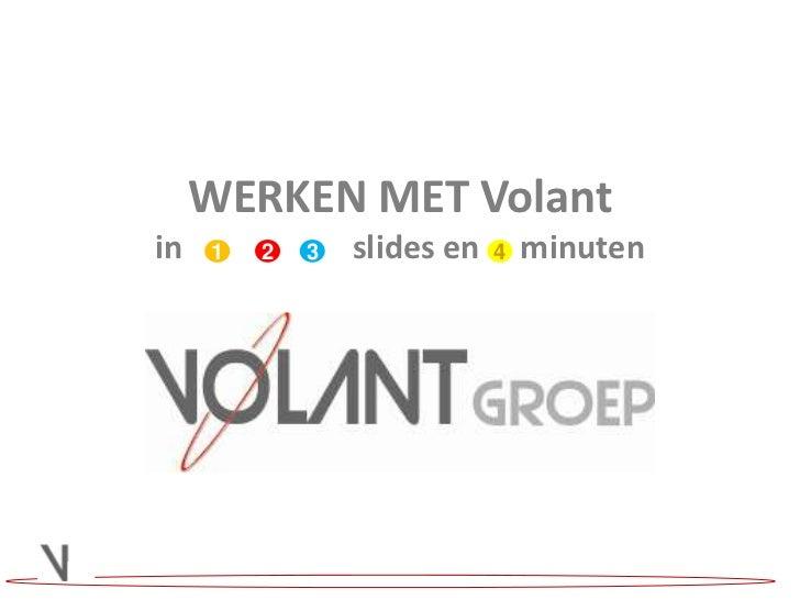 WERKEN MET Volantin slides en     minuten<br />2<br />3<br />1<br />4<br />
