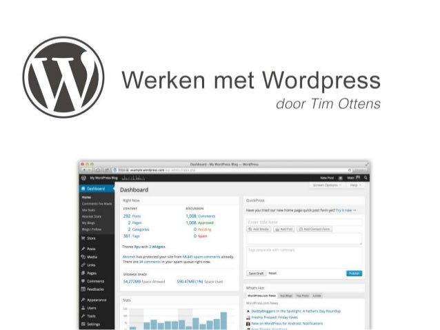 • Wordpress is opgezet in 2003 door de toen 19 jarige Matt Mulenweg • Wordpress is opensource • Wordpress groeit door de o...