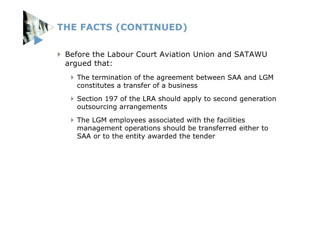 Amendments to the LRA and the BCEA: Werksmans Labour ...