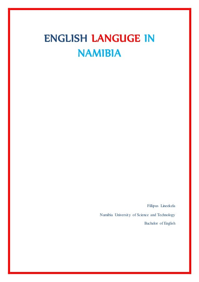fillipus lineekela essay on the english language in namibia
